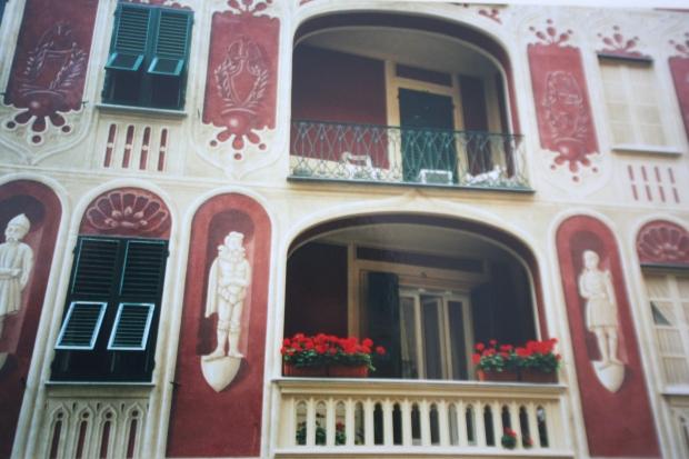 Painted walls in Santa Margherita Ligure