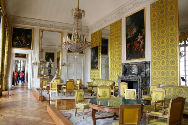 Yellow silk room Versailles Palace
