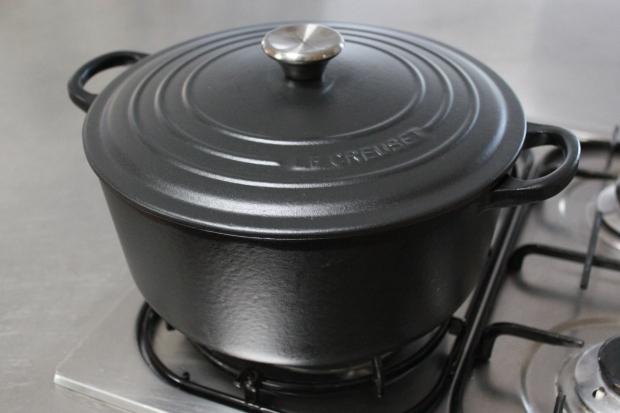 New cast iron cocotte